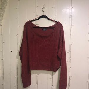 Misguided cable knitted long sleeve top